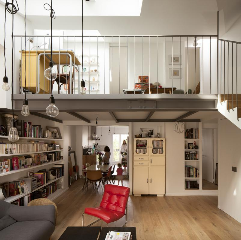 Appartement duplex a saint mande cairos architecture et - Appartement en duplex abraham architects ...